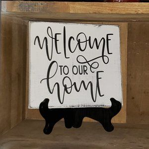 """NEW Handmade """"Welcome to our Home"""" Farmhouse Sign"""